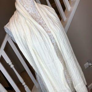 MACY'S Beige w/ White Sequins Warm Winter Scarf